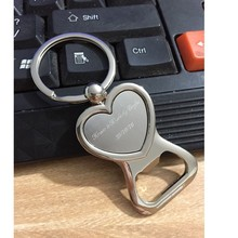 100Pcs Personalized Wedding Gifts For Guests Heart Bottle Wine Opener/Keychain Wedding Favor Birthday Party Souvenir Custom Logo
