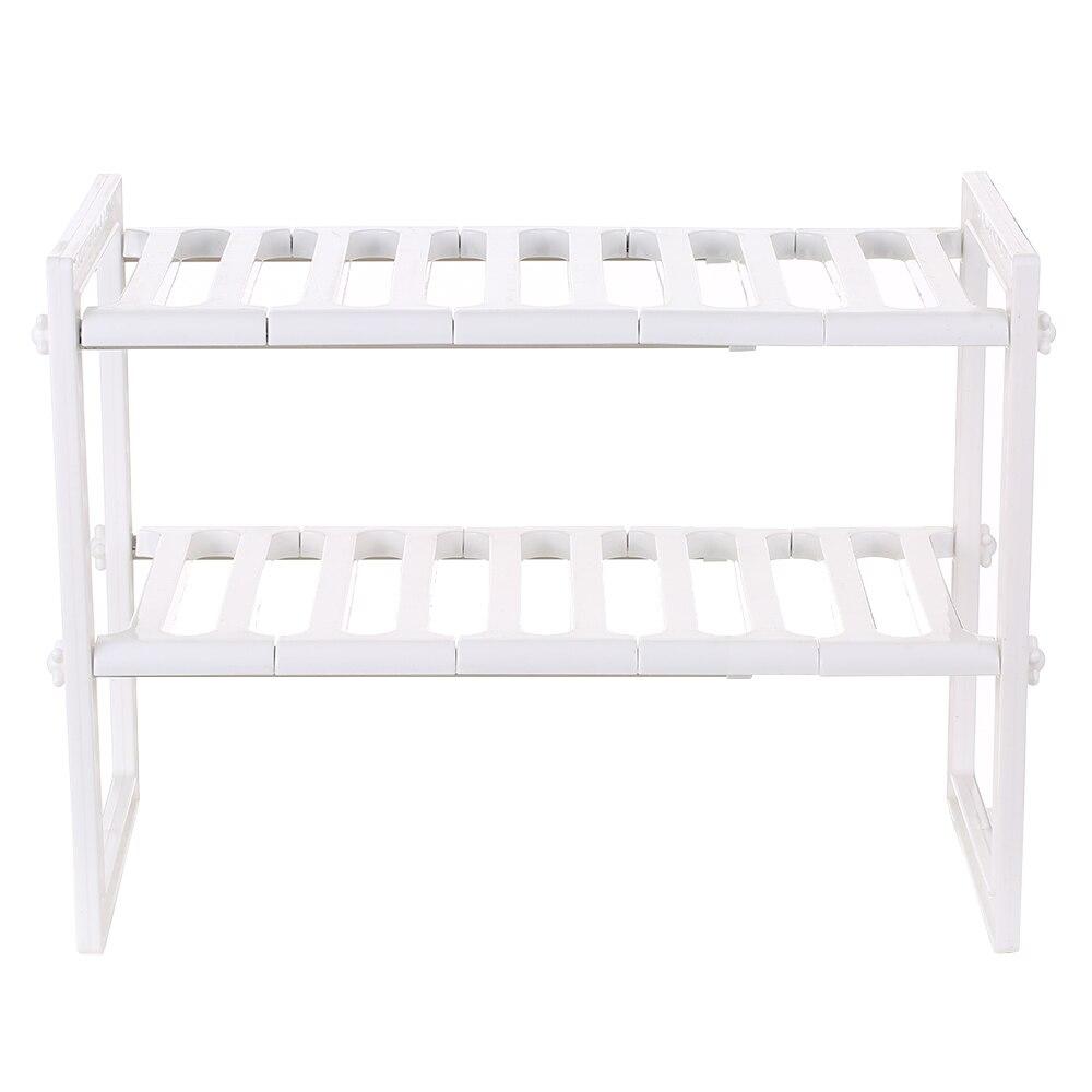Multi Functional Under Sink 2 Tier Expandable Shelf