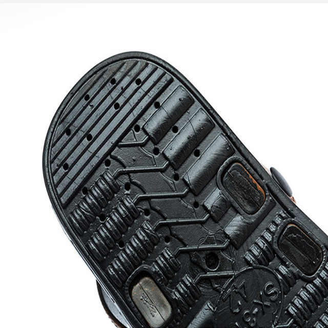 15be500899bd8b ... KESMALL Men's Summer Slippers Beach Shoes Anti-Skid Wear-Resistant  Indoor Sandals Shoes Men ...