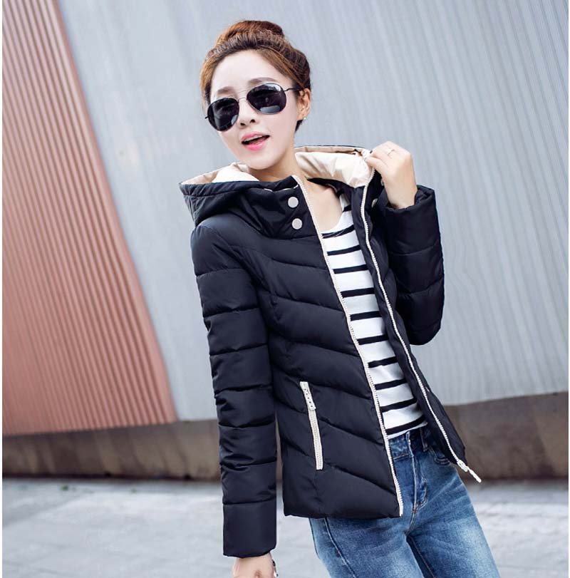 ФОТО 2015 new Winter Women plus size Slim Down cotton hooded thick warm fashion cotton padded jacket coats BL1122