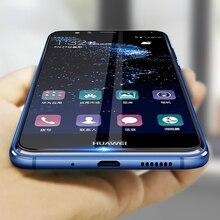 2 個保護ガラス Huawei 社 p10 lite プラス強化 Glas 1080p 10 p10lite Huavei Hauwei Huawie スクリーンプロテクターオリジナルフィルム
