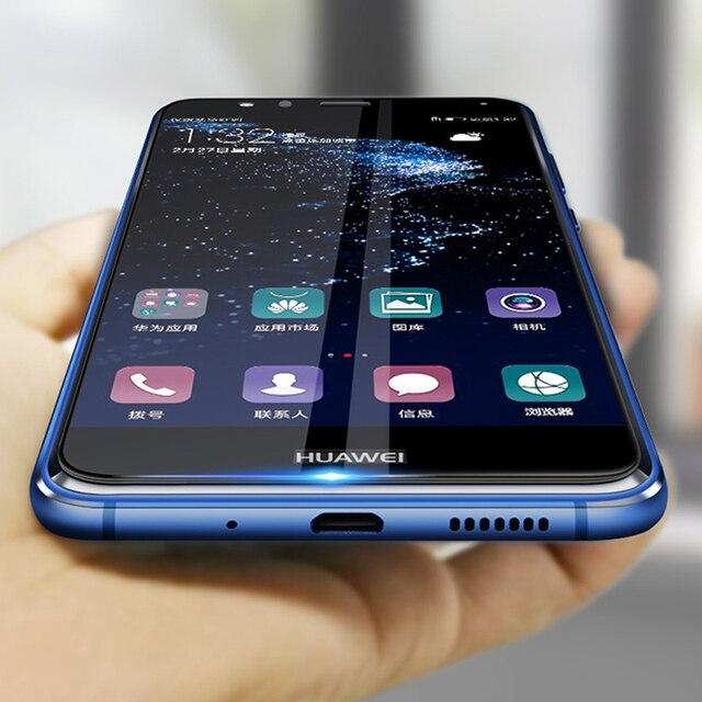 2 sztuk szkło ochronne na Huawei p10 lite plus szkło hartowane p 10 p10 lite Huawei Huawei Huawei Screen Protector oryginalny film
