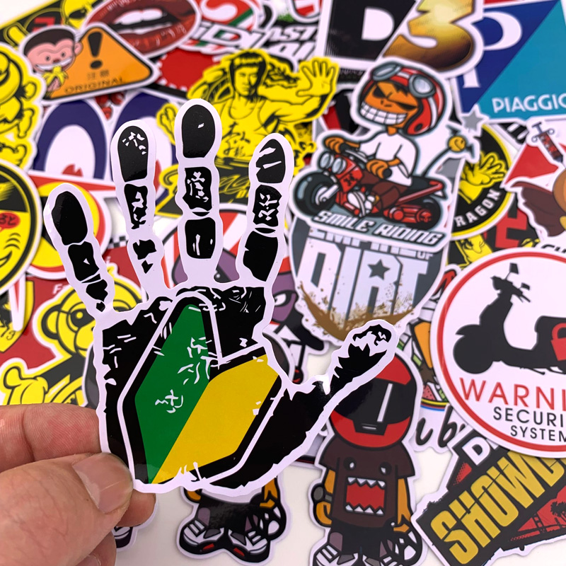 Classic Fashion Style Graffiti Stickers For Moto car & suitcase cool laptop stickers Skateboard sticker