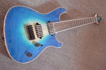 Custom shop! e-gitarre großhandel guitarra guitarra 7 string acustica blau muster cavaquinho instrumentos musicais