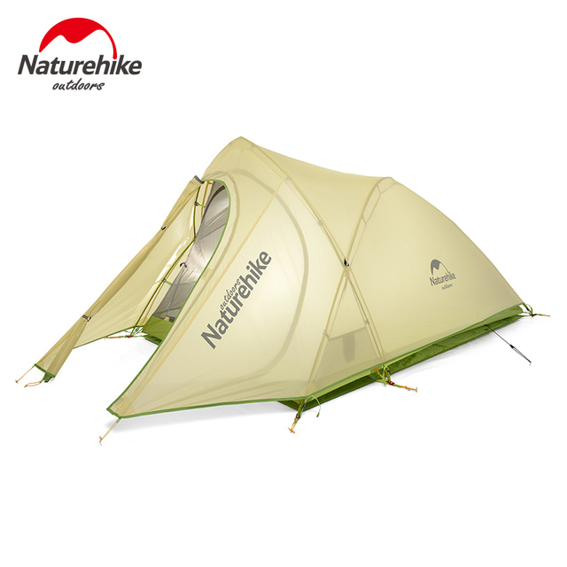 Outdoor 2 Person 20D Nylon Coating Silicone Waterproof Double Layer Tent Portable Ultralight Camping Tents PU4000mm With Mat