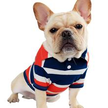 Dog shirt 2019 spring and summer new dog pet clothing orange blue striped  for small S M L XL XXL Pet