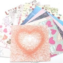 YPP ремесло 6 ''без кислоты сладкое сердце узор декоративная бумага для скрапбукинга набор из 18 листов напечатанный фон крафт бумага
