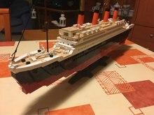 1021 PCS Sluban 0577 RMS Titanic Navio de Cruzeiro de Barco de Brinquedo Modelo 3D brinquedos de Blocos de Construção Compatíveis com lego brinquedos & hobbies