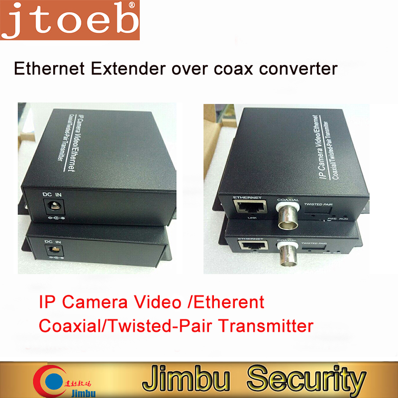 Jtoeb Ethernet Extender Over Coax Converter 2KM For IP Cameras Video / Ethernrt Coaxial / Twisted-Pair T