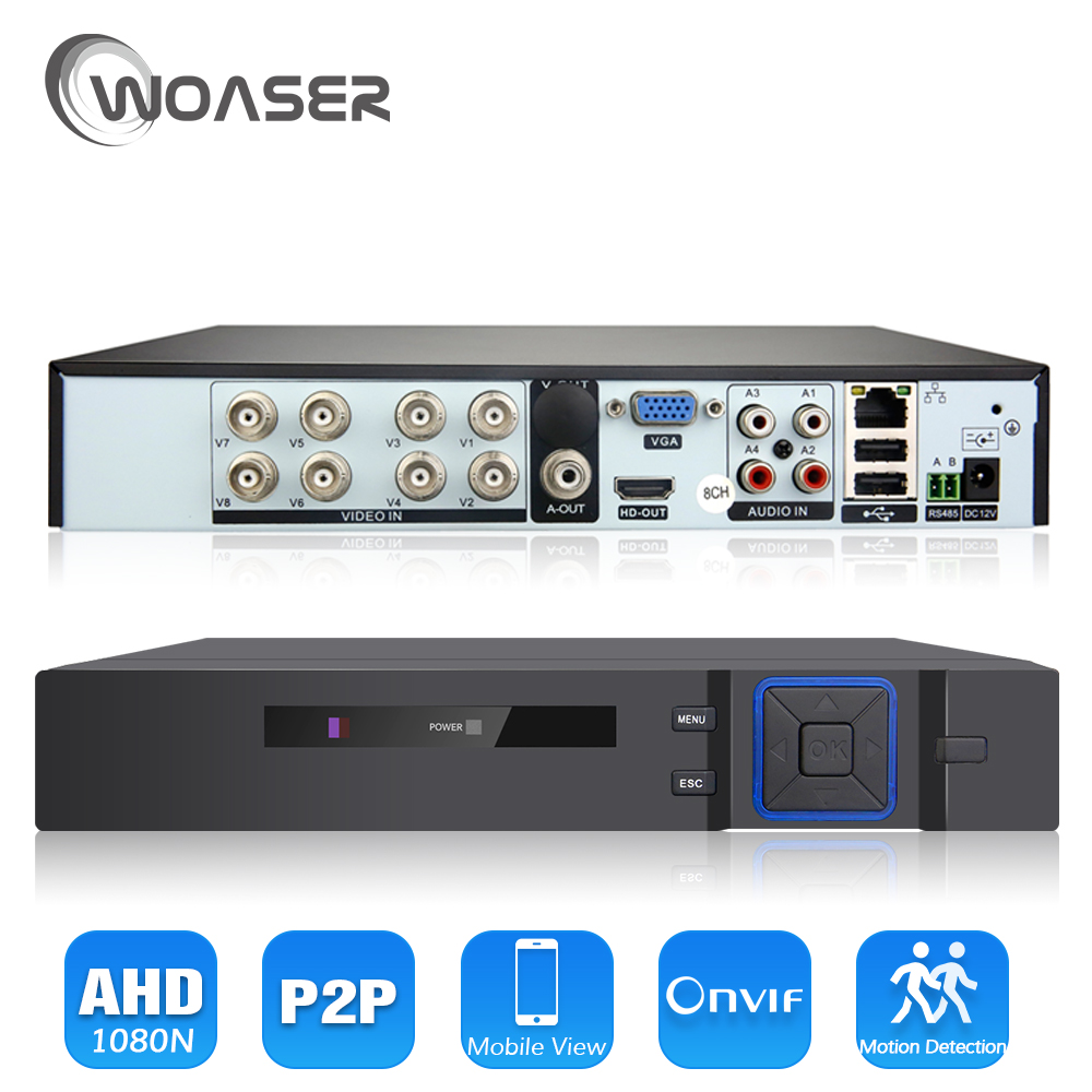 WOASER 8Channel 1080P AHD-NH Hybrid AHD DVR Recorder 5 In 1 Hybrid AHD DVR 1080P/720P Support For 2.0MP AHD Camera and IP Camera ahd