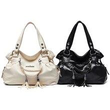 Women's Fashion Casual Faux Leather Tassel Handbag Shoulder Bag Tote Purse