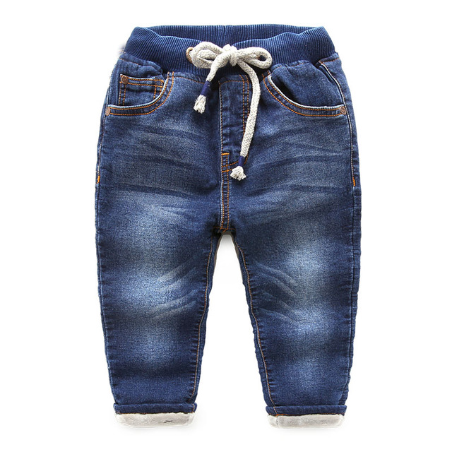 Children's trousers and jeans 2016 velvet male boy thickened New Kids Baby winter pants
