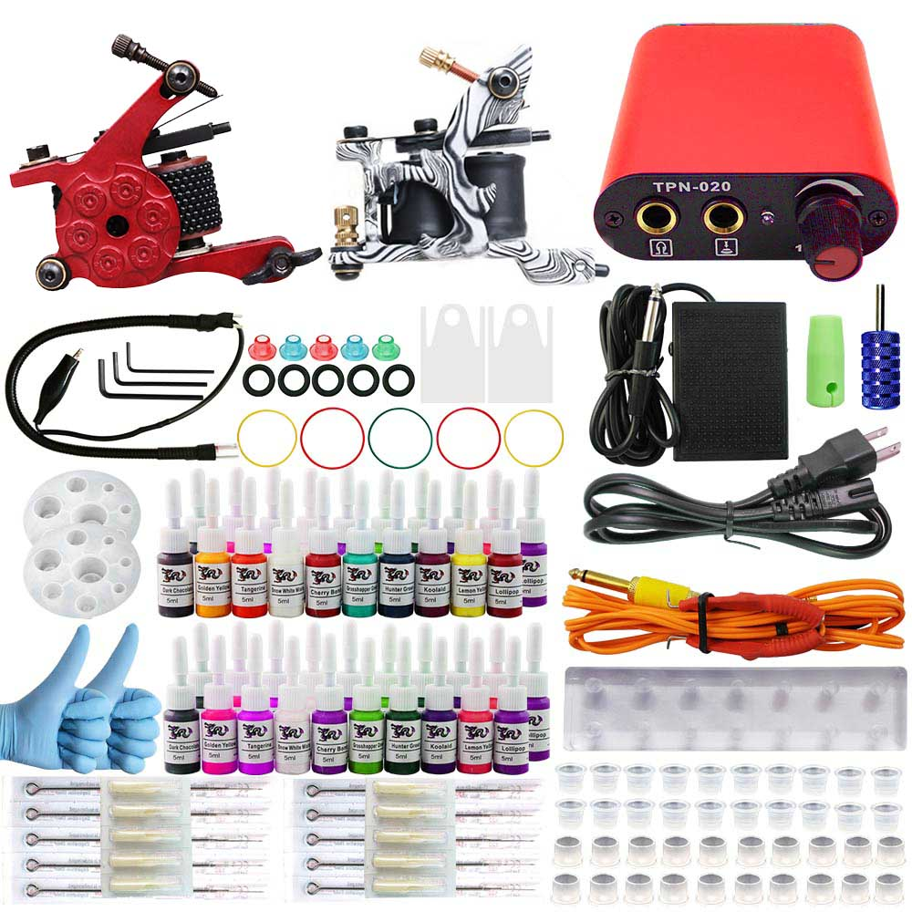 ITATOO Tattoo Kit Cheap Tattoo Machine Set a Pen Kit Tattooing Ink Machine Gun Supplies  Temporary Weapon Professional TK104008