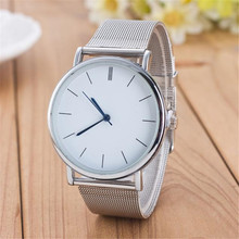 2017 New classical Cheap amazing hot practical wonderful beautiful Women Ladies Silver Stainless Steel Mesh Band Wrist Watch