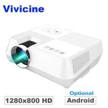 Vivicine 720P HD проектор, дополнительный Android WI-FI Bluetooth HDMI ПК USB мини-светодио дный Proyector ручной фильм проектор для видео игры