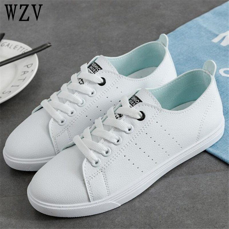 2018 Spring Women Flats Shoes Fashion Women Casual Shoes Summer Breathable Vulcanization Lace-Up Women Sneakers C165
