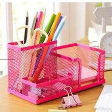 New Metal Desktop Storage Box Organiser Pen Card Office Stationery Holder Home House bathroom Desk Organizer
