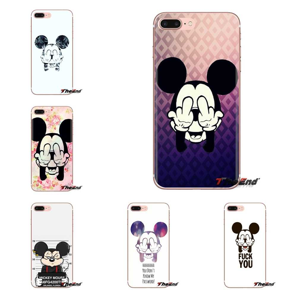 Casos Covers bad mickey mouse Macio transparente Para Huawei G7 G8 P7 P8 P9 P10 P20 P30 Lite Mini Pro P Smart Plus 2017 2018 2019