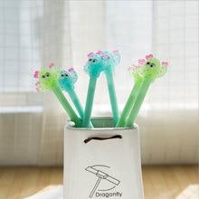 2pcs/lot Cactus styling pen Cute cartoon School students office supplies Children like the  gift kawaii  Reward material gel pen