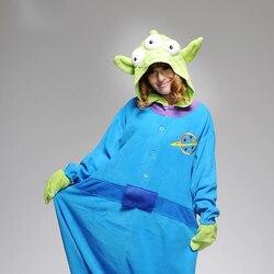 Toy Story Aliens Onesies xl pijamas adultos Anime Cosplay traje pijama hombre mujer pareja Pijamas