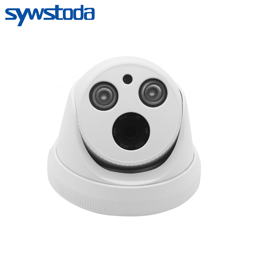 Wide Angle 2.8mm Lens ONVIF P2P Security IP Camera 720P/960P/1080P HI3516E Indoor Dome Camera IP 2MP Surveillance CCTV Camera image