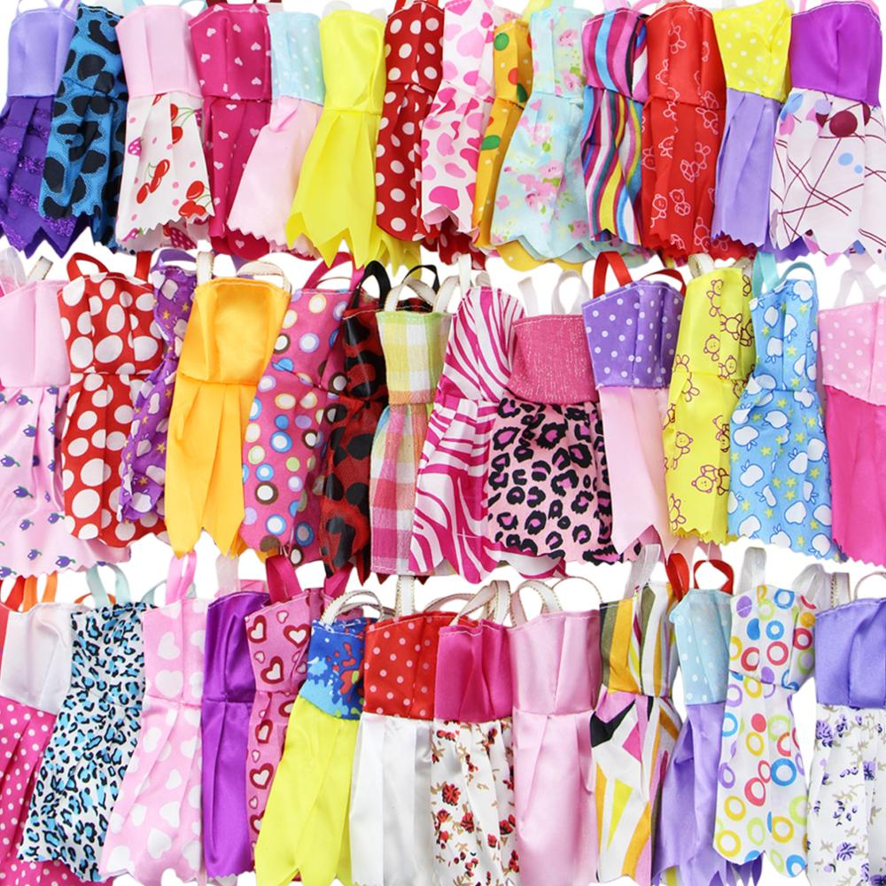 30 Item Set Accessories   Random 10x Mixed Style Mini Dress + 10x Shoes + 6x  Necklaces + 4x Glasses Clothes For Barbie Doll Gift-in Dolls Accessories  from ... 9c65c0d2fdef