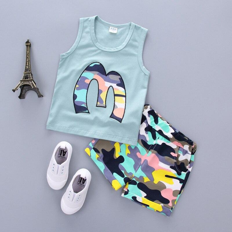 2018 Conjuntos de ropa de verano de algodón para el recién nacido - Ropa de bebé