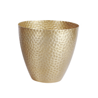 new ins popular golden vase Golden Iron Flower Pot Home Hotel Decorative Flower Pot Orchid Flower Pot