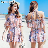 Small Chest Gather One Piece Skirt Type Show Thin Cover The Belly Sexy New Style