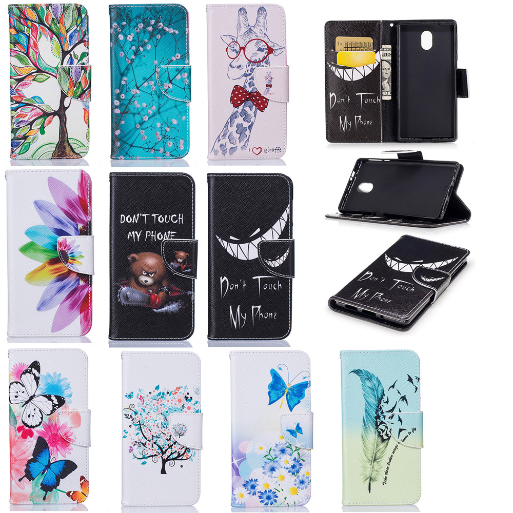 Book Flip PU Leather Cases For Nokia3 Global Nokia 3 Dual SIM Stand Wallet Cover For Nokia 3 2017 Cases TPU Silicon Full Housing