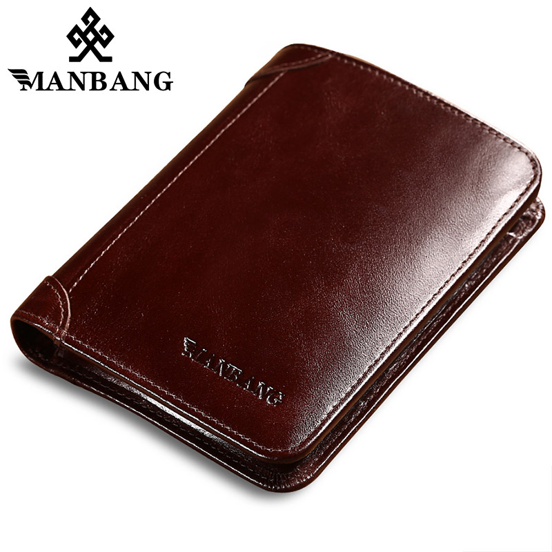 2017 Promotion Special Offer Short Manbang Mini Genuine Leather Wallet Men Purse Card Holder Brand Wallets Dollar Price Male manbang 2017 new wallet genuine leather men wallets short male purse card holder wallet men fashion high quality free shipping