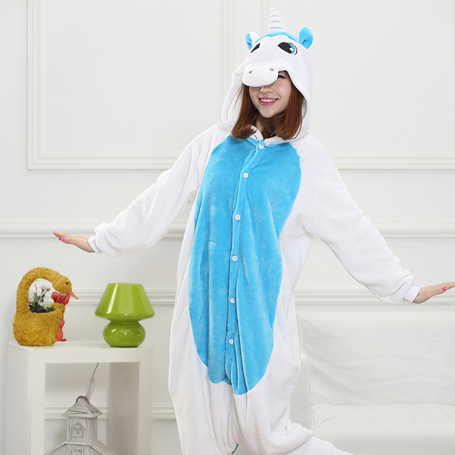 30506a6b27 Winter Pijamas Animal Pajamas One Piece Costume Couples Onesie Unisex  Unicorn Primark Pajamas