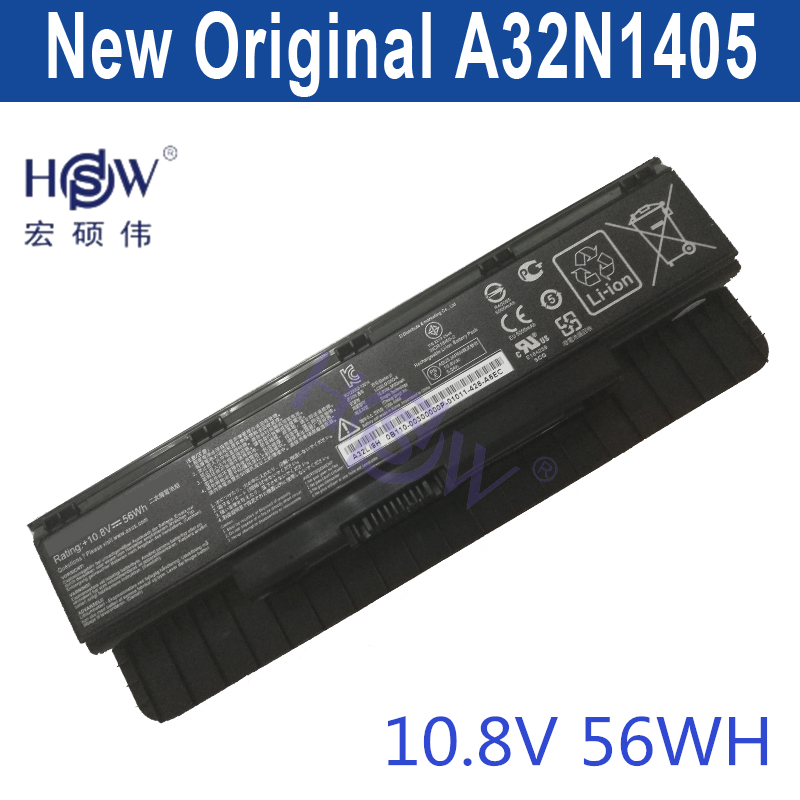 HSW  genius laptop battery A32N1405 56WH For Asus G551 G551J G551JK G551JM G771 G771J G771JK N551J N551JW N551JM N551Z битоков арт блок z 551