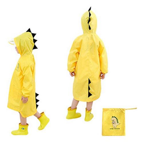 Children Cartoon Rain Coat Kids Rainwear Cute Baby Funny Waterproof Raincoat Rain Coat Clothes Set pennyblack перчатки
