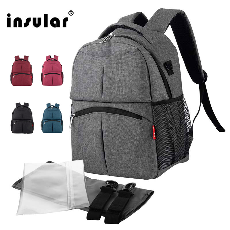 Insular Larger Capacity Baby Travel Bag Diaper Bag Backpack For Mom And Baby Maternity Multi-function Waterproof Wet Bag