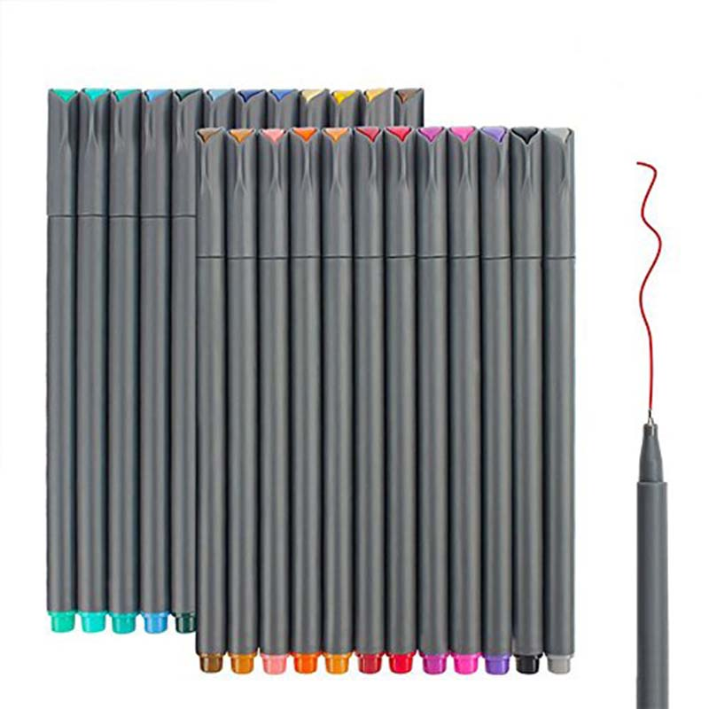 Pens Colored Fine Tip Markers, Fine Point Bullet Journal Pens Sketch Writing Drawing Markers Set For Coloring Book Taking Note
