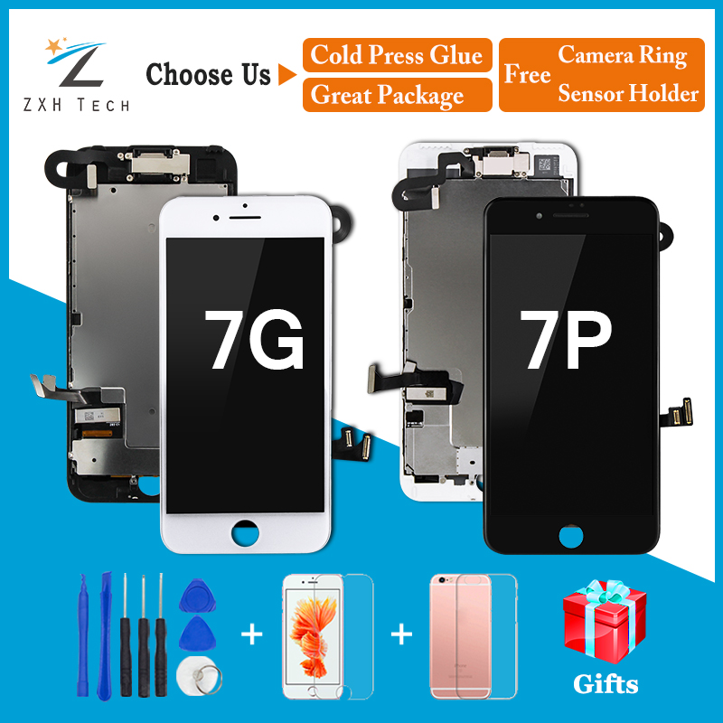 AAA LCD 3D Touch Screen Ecran For IPhone 7/ 7 Plus LCD Display Pantalla Digitizer Assembly Replacement Completed With Free Gifts