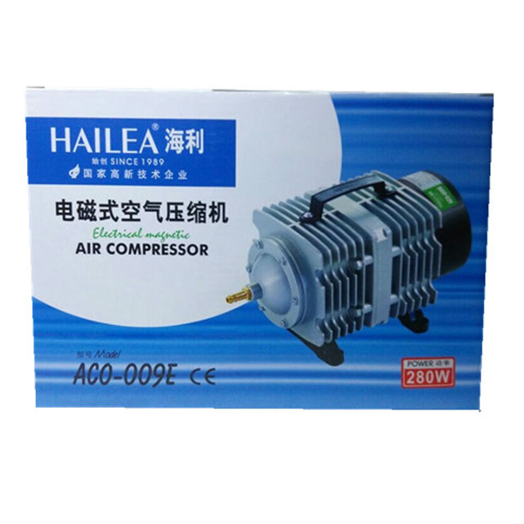 140L/min Hailea ACO-009E Electromagnetic Air pump 160W Air Compressor Septic Fish Tank Aquarium tank,Oxygen for Fish tank NEW aquarium fish tank tubing straight connector t splitter for 4mm air line 24 pcs