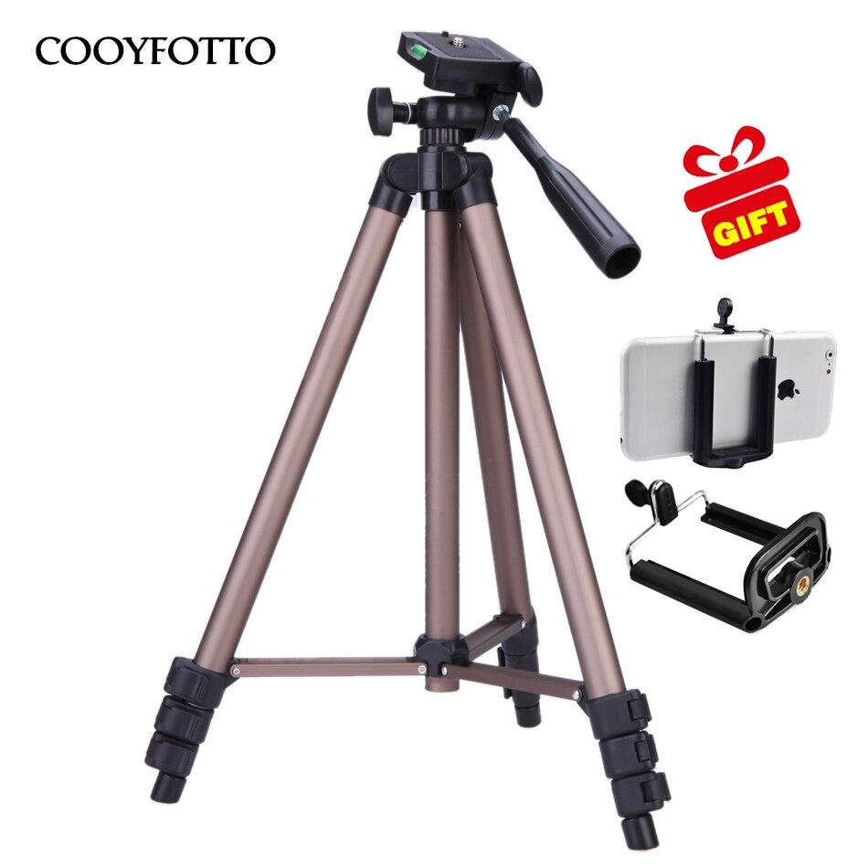 WT3130 Aluminum alloy Camera Tripod Stand with Rocker Arm for Canon Nikon Sony DSLR Camera Camcorder