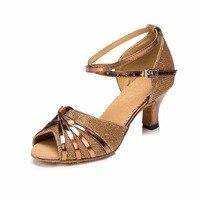 Sexy Red Women Latin Dance Shoes 6CM High Heel Popuplar Salsa Tango Jazz Samba Ballroom Dance