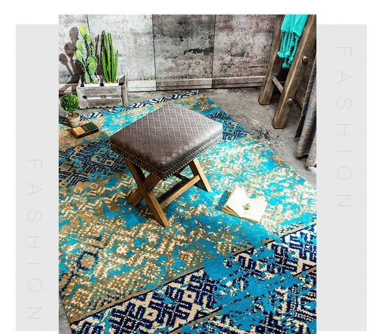 Mediterranean blue style wedding carpet blue living room ground mat 200 300cm bedside rug font b