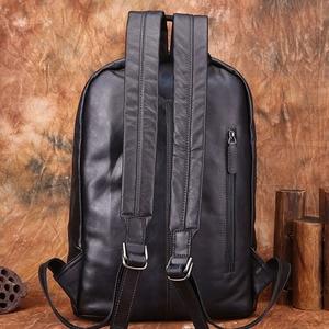 Image 2 - AETOO Backpack Mens Leather Backpack Fashion Mens Leather Bag Retro Leisure Large Capacity Travel Bag