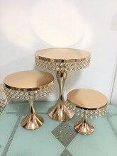 2019 украшения торта стойка держатель кристалл торт стенд золото для свадебного торта стол центральные украшение для торта macaron стенд