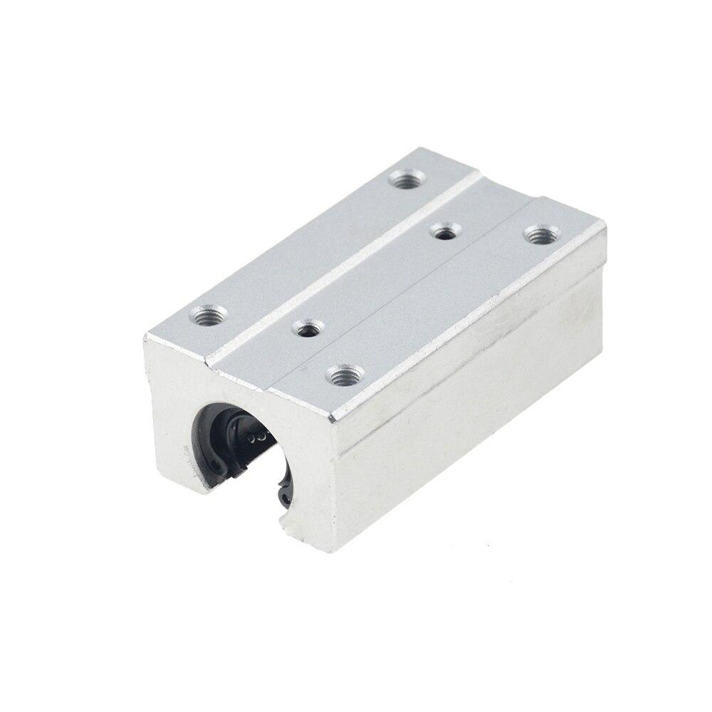 Бесплатная доставка 4 шт./лот SBR16UU SBR12UU SBR13UU SBR20UU SBR12LUU 16 мм Линейный шарикоподшипник блок ЧПУ маршрутизатор SBR16 линейная направляющая 3D
