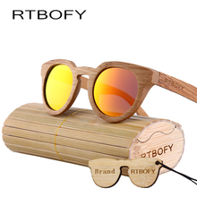 RTBOFY 2017 New fashion Products Men Women Glass Bamboo Sunglasses au Retro Vintage Wood Lens Wooden Frame . ZA-05