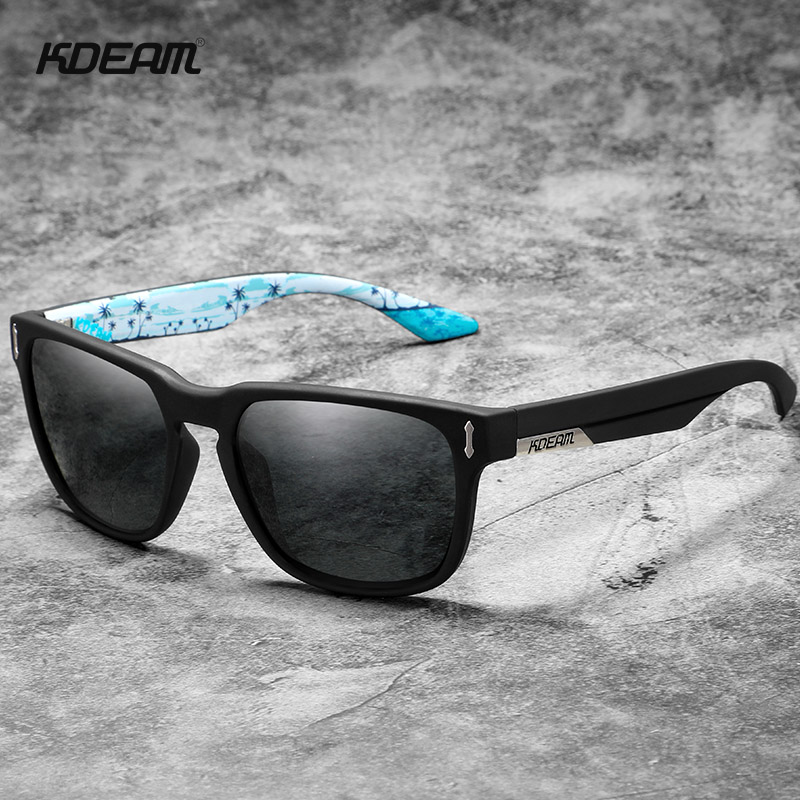2019 New KDEAM Polarized Sunglasses Mens Square Sports Dating Boyfriend Glasses With Box KD1302