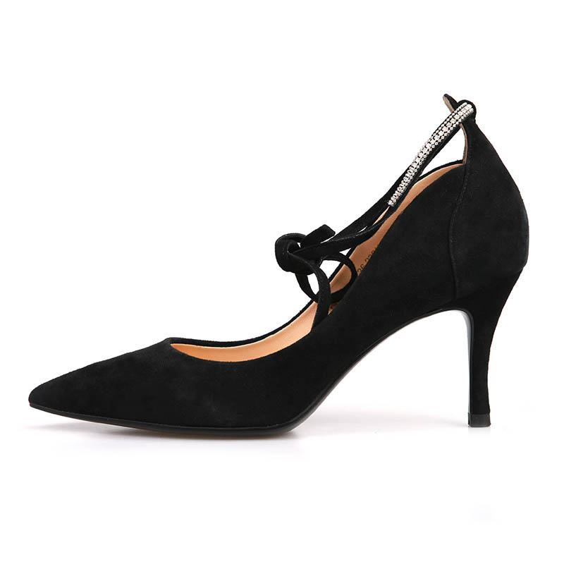 Spring 2019 Sweet And Lovely New Suede High Heels Fashion Office Shoes Woman Sexy High Heels Woman Wedding Shoes Party