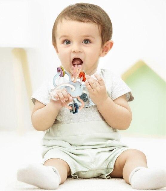 Beiens baby speelgoed 0-12 maanden baby rammelaar educatief baby speelgoed bal Pasgeboren Baby Manhattan Snoep Ontwikkelen Intelligentie Plastic 1