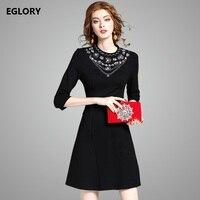 2017 Autumn Vest Women Dress Single Breasted Pocket Patchwork V Neck Sleeveless Dress Red Black Casual