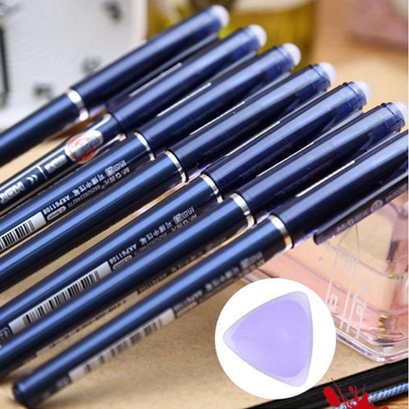 1Pcs Non-slip Erasable Gel Pen Black Blue Dark-blue 3 Colors To Choose From Good Writing Full Ink